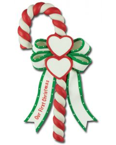 CL295: Our First Xmas Hearts Candy Cane