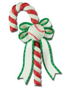 CL297: BASEBALL CANDY CANE