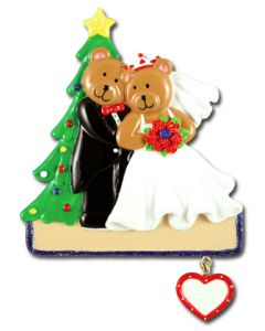 CR139: CHRISTMAS TREE WEDDING COUPLE