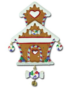 LR111: DELUXE GINGERBREAD HOUSE & CANDY W/ BELL