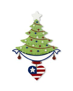 LR112USA: Patriotic Tree w/ Banner