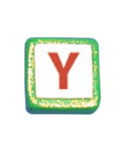 """ST200Y: STOCKING LETTER """"Y"""" BEAD"""