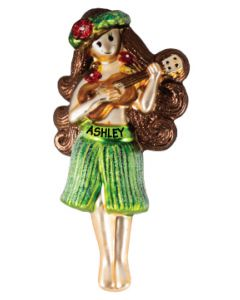 Hula Girl w/ Ukulele Red